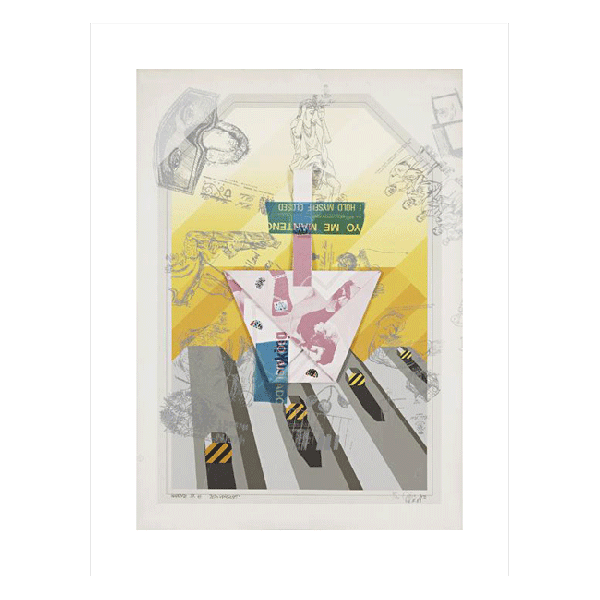 Expressionism drawing figure. Neo style beton landschaft