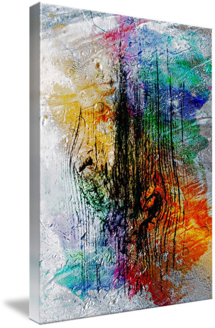Expressionism drawing meaningful. L abstract digital