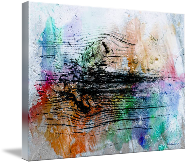 Expressionism drawing symbolism. H abstract digital