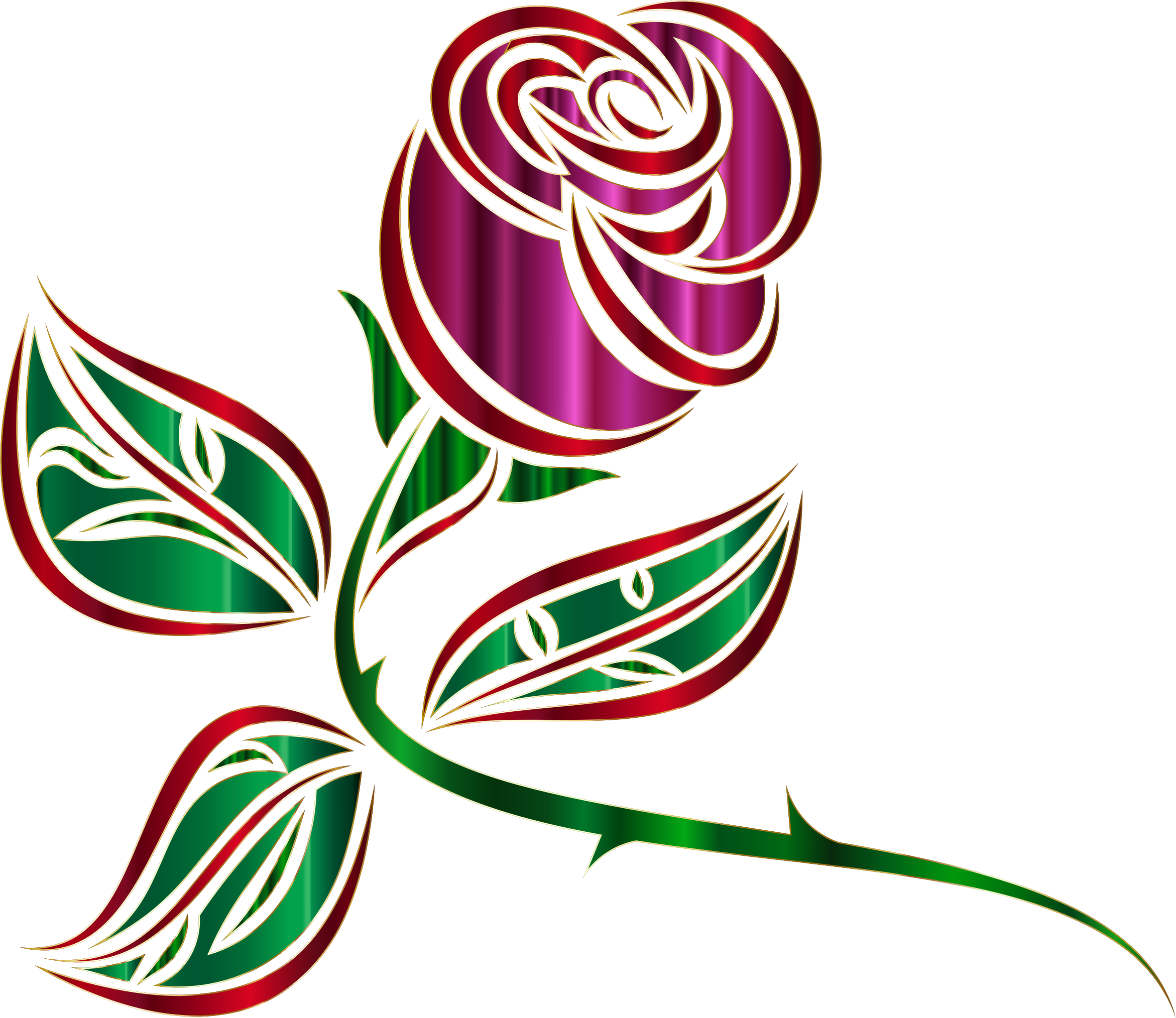 Stylized rose minus background. Extended clipart clipart freeuse library