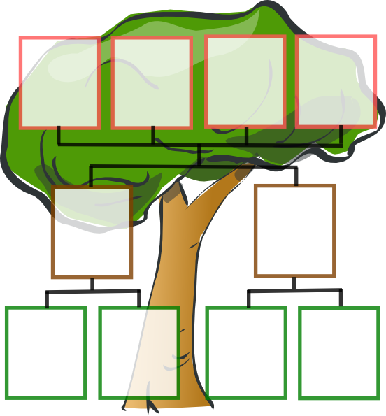 Extended clipart 3 generation family. Free three cliparts download