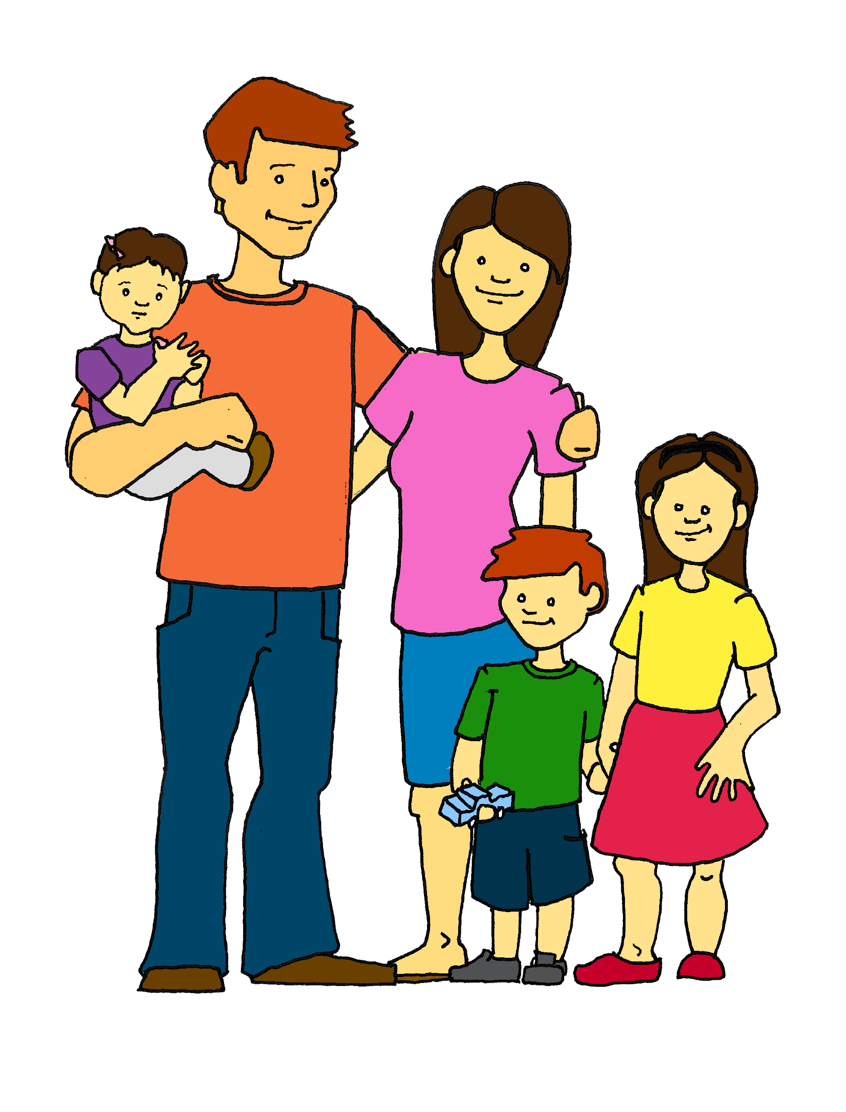 Poor clipart happy family. Free image of download