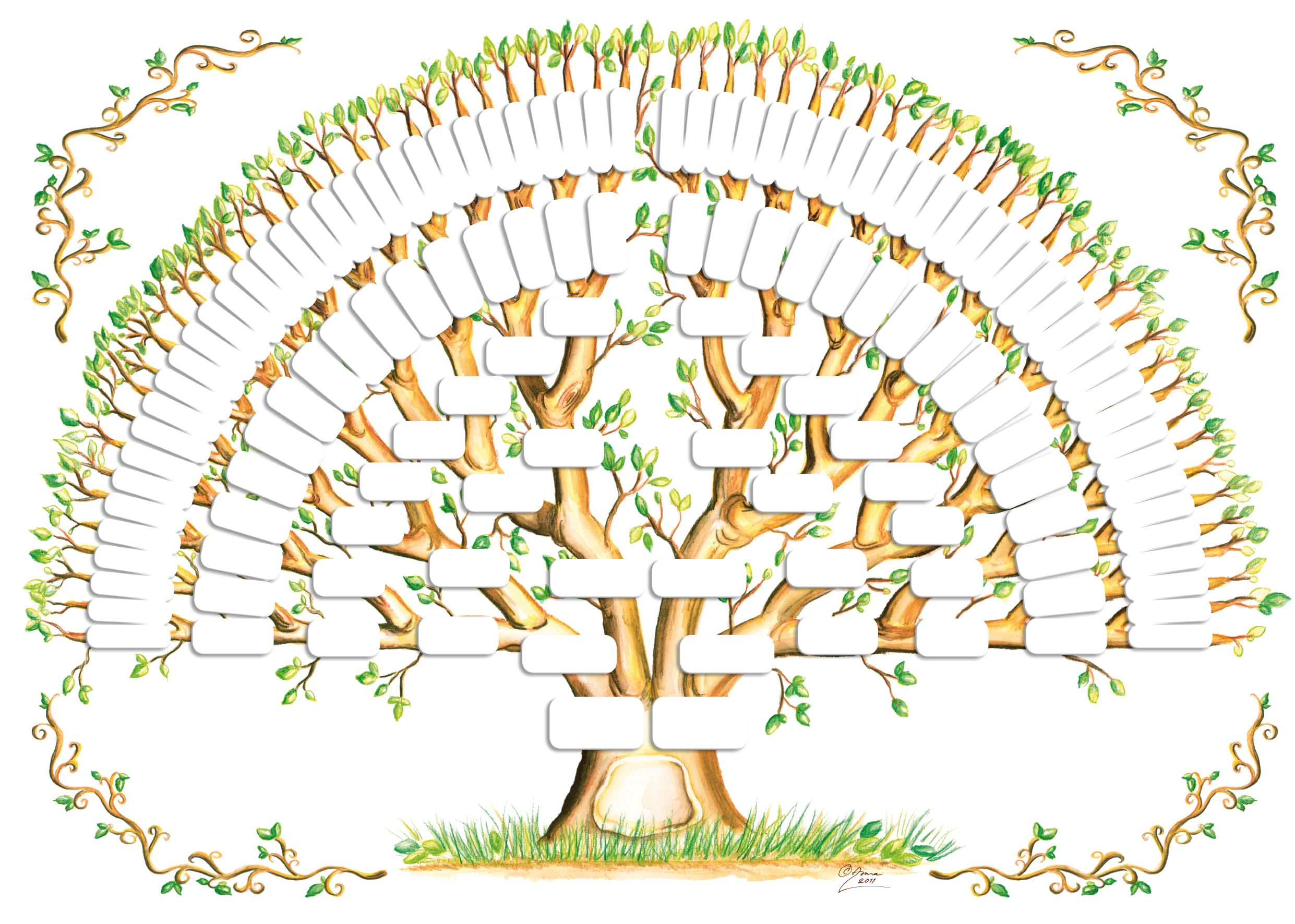 Extended clipart 3 generation family. Tree template gallery