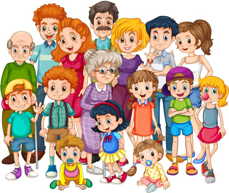 best family images. Extended clipart black and white library