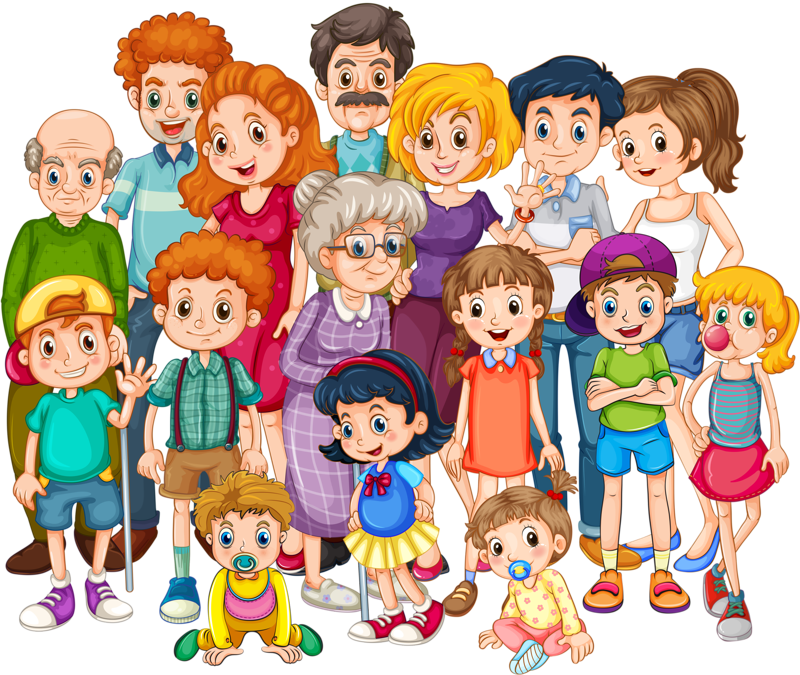 Grandparents clipart extended family. Qo s ln