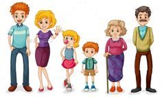 extended clipart large family
