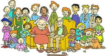 Extended clipart large family. Reunion readers theater brendan