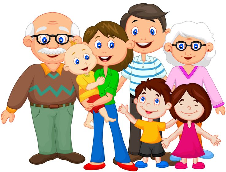 Grandparents clipart extended family. Best images on