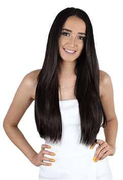 Wig clip ponytail. Hair extensions tape