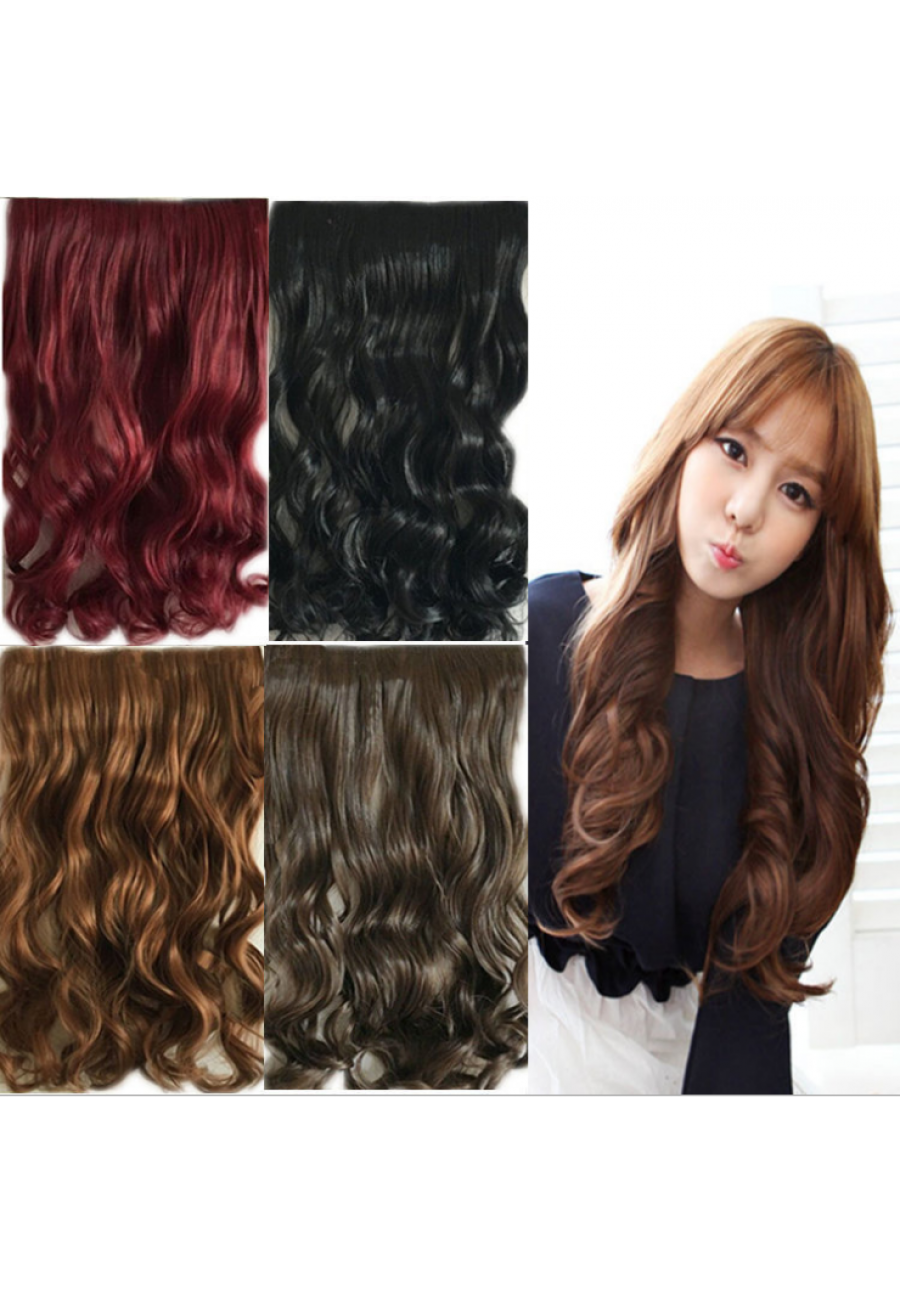 Extensiones clip curly hair. Five clips extension