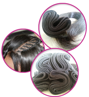 Extension clip weave. Remy hair extensions natural