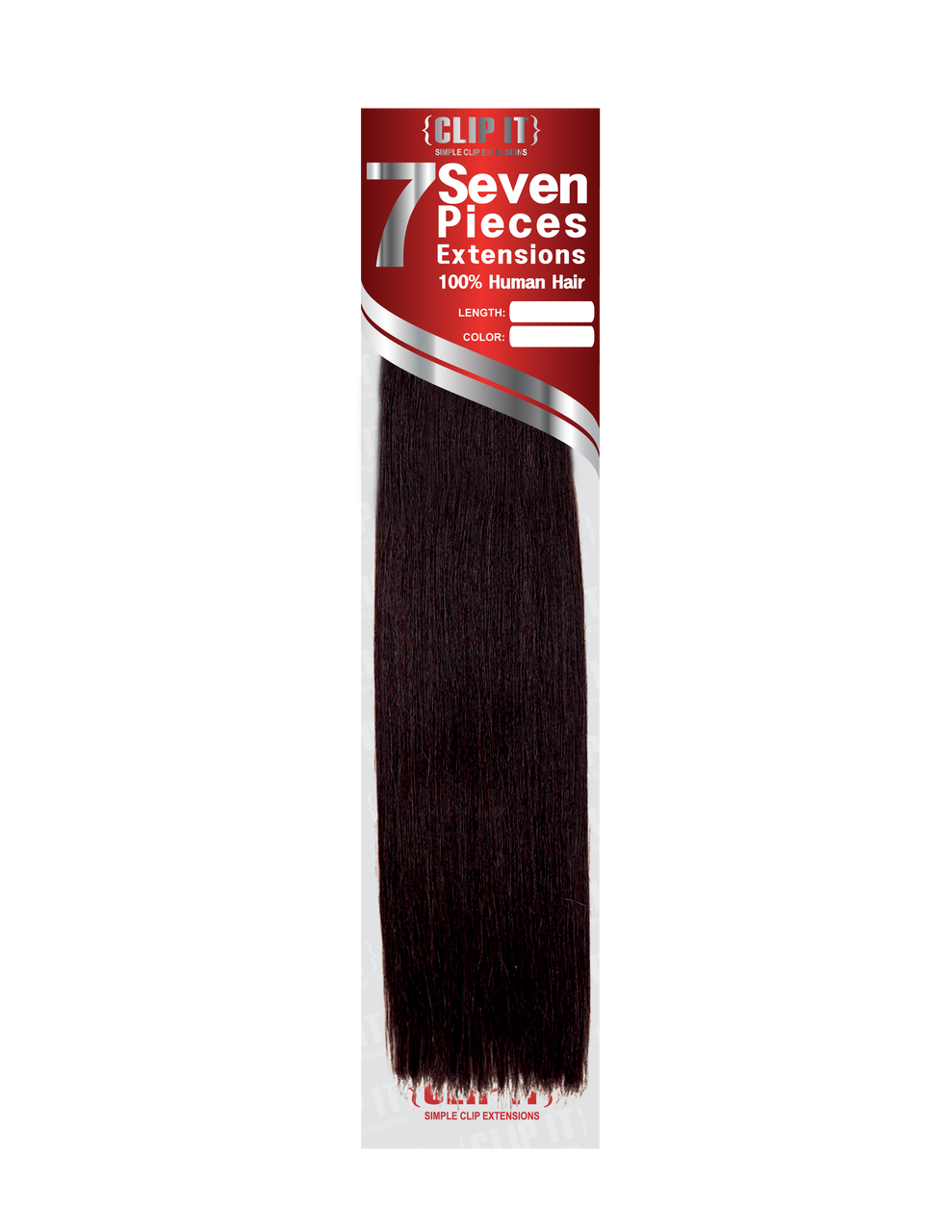 Extensiones clip weave. Human hair in extension