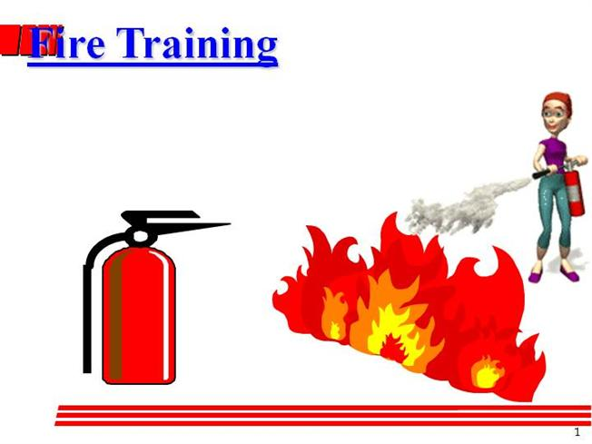 Extinguisher clipart fire fighting training. Safety authorstream