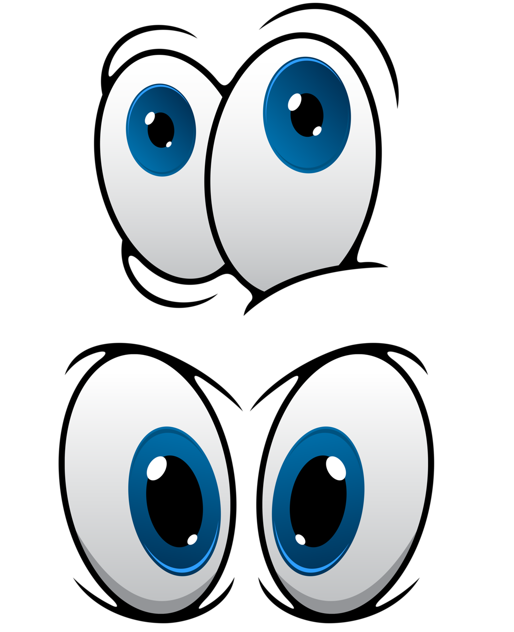 Glow drawing multi colored eye. Png clip art