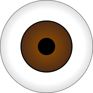 Eye clip ball. Eyeball graphic library