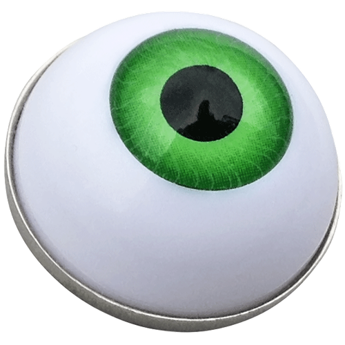 Eye clip ball. Green marker hat by
