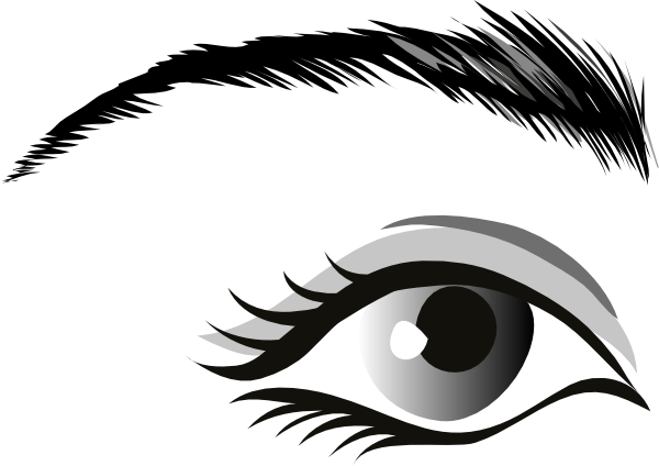 Eye clip beautiful. Clipart black and white
