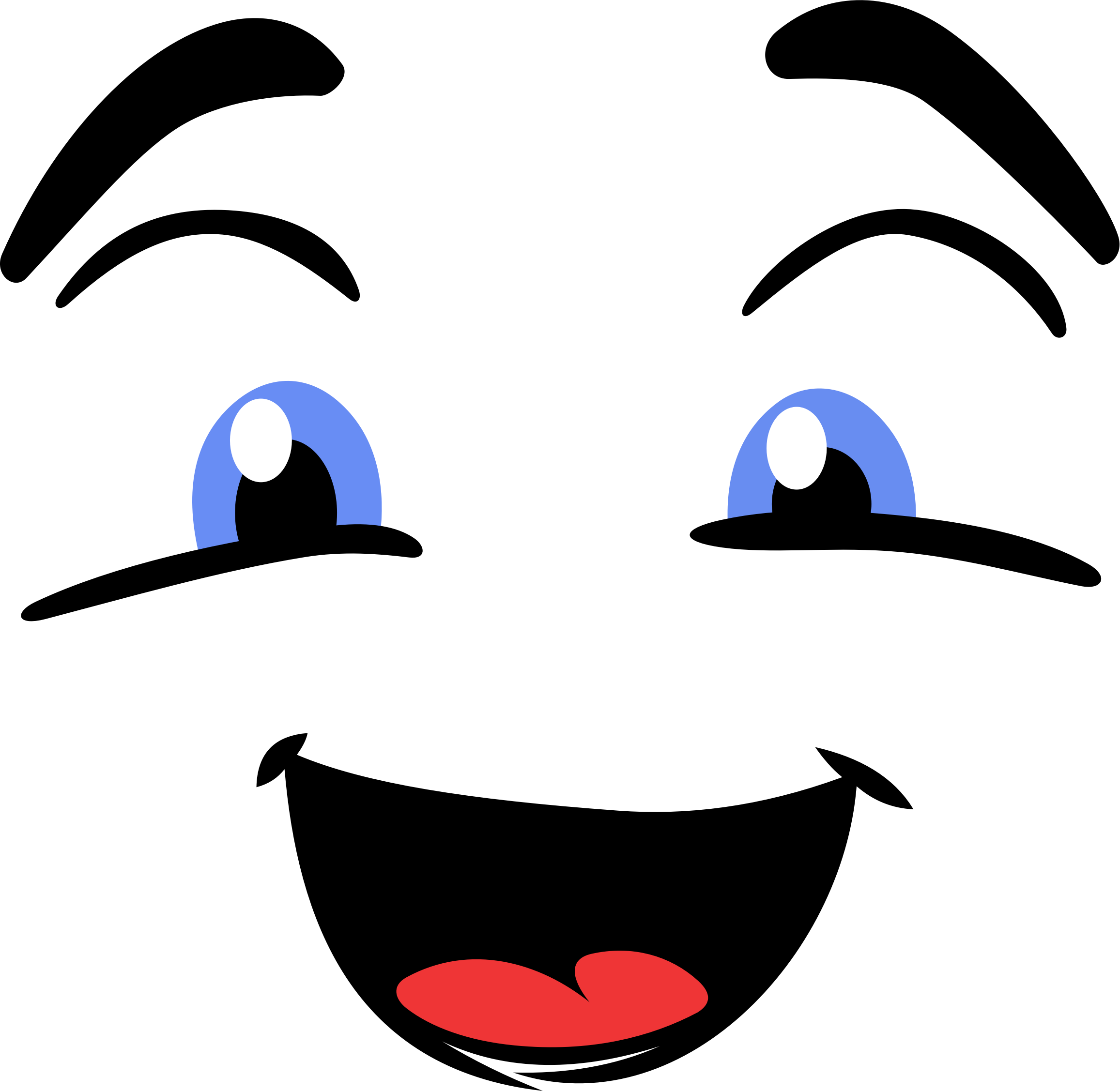 Eye clip happy. Face icons png free