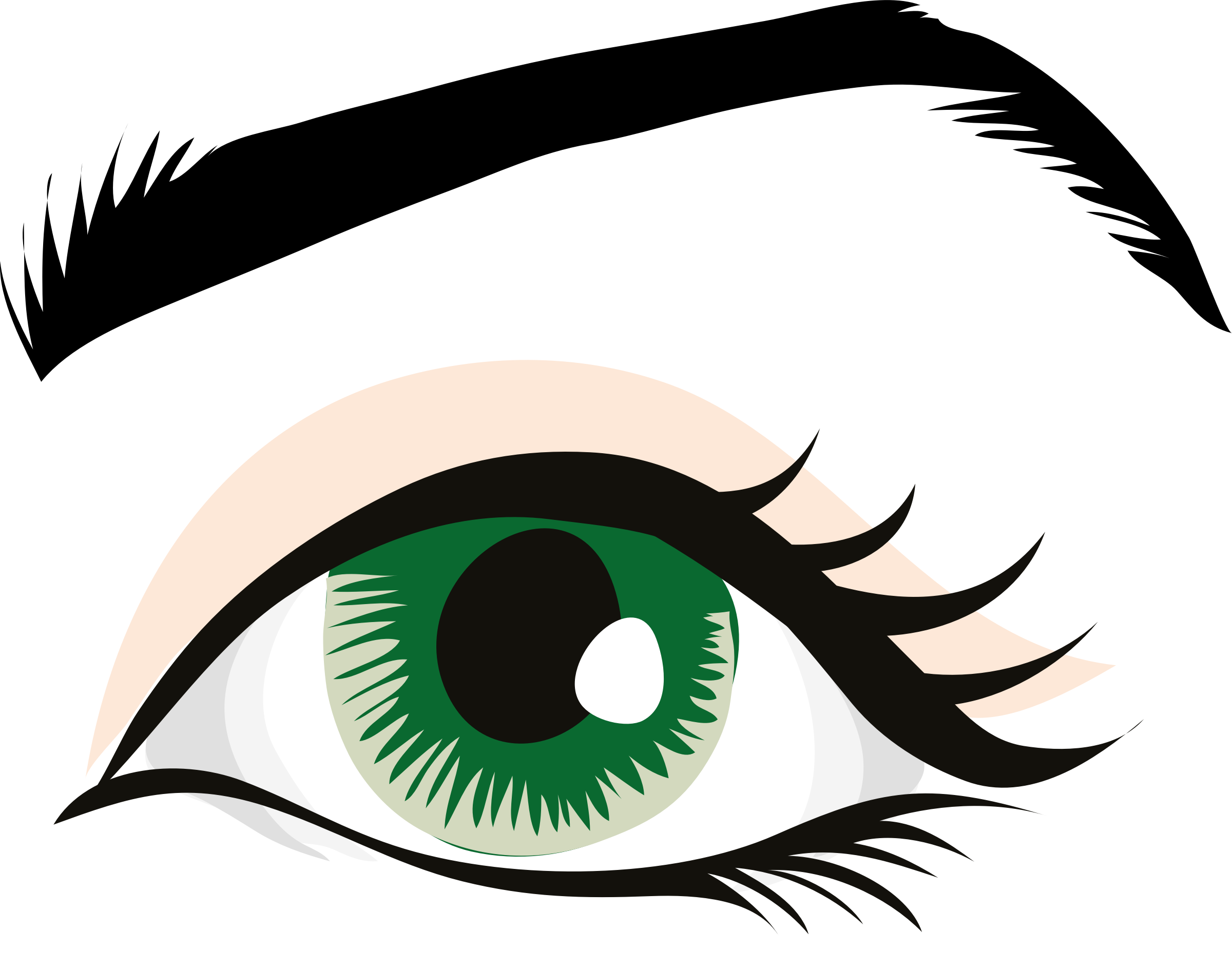 Pupil drawing body. Human eye color clip