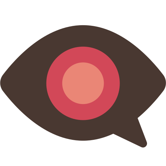 Eye clip left. Speech bubble made with