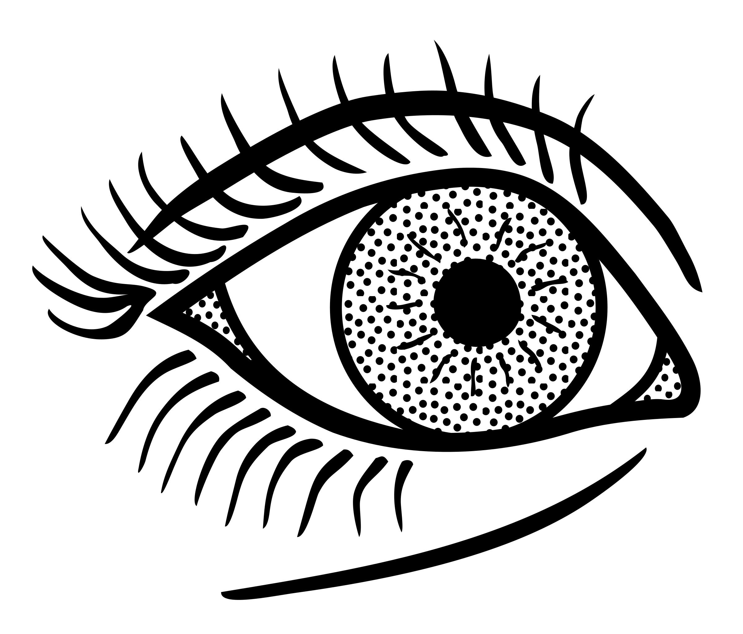 Eye clip line art. Lineart icons png free