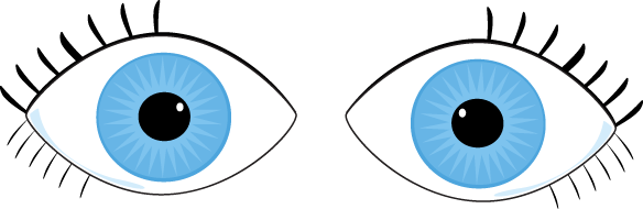 Eye clip pair. Eyes clipart royalty