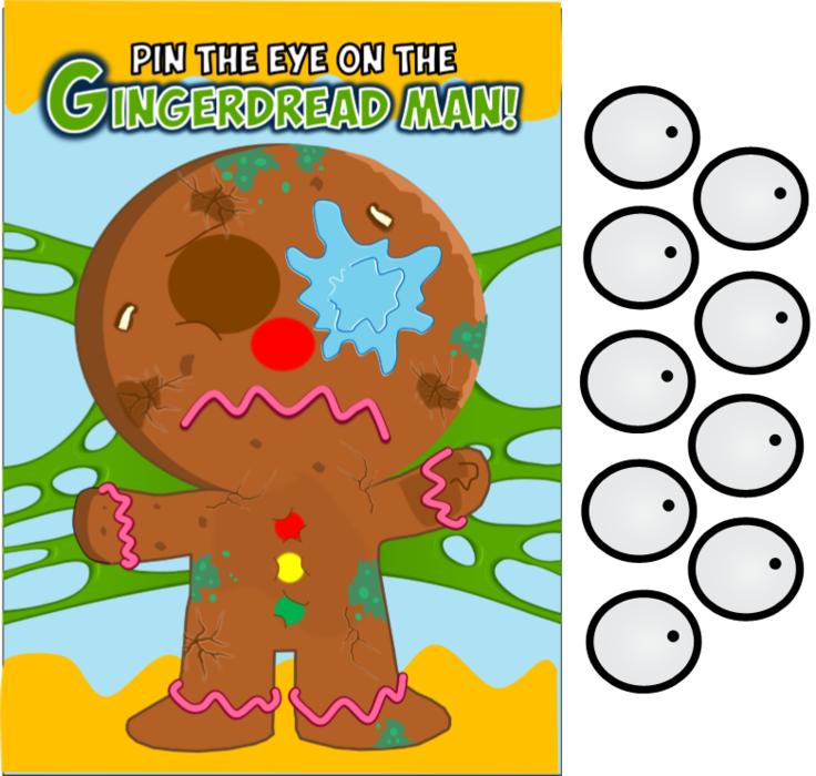 Grossery gang party game. Eye clip printable clipart royalty free