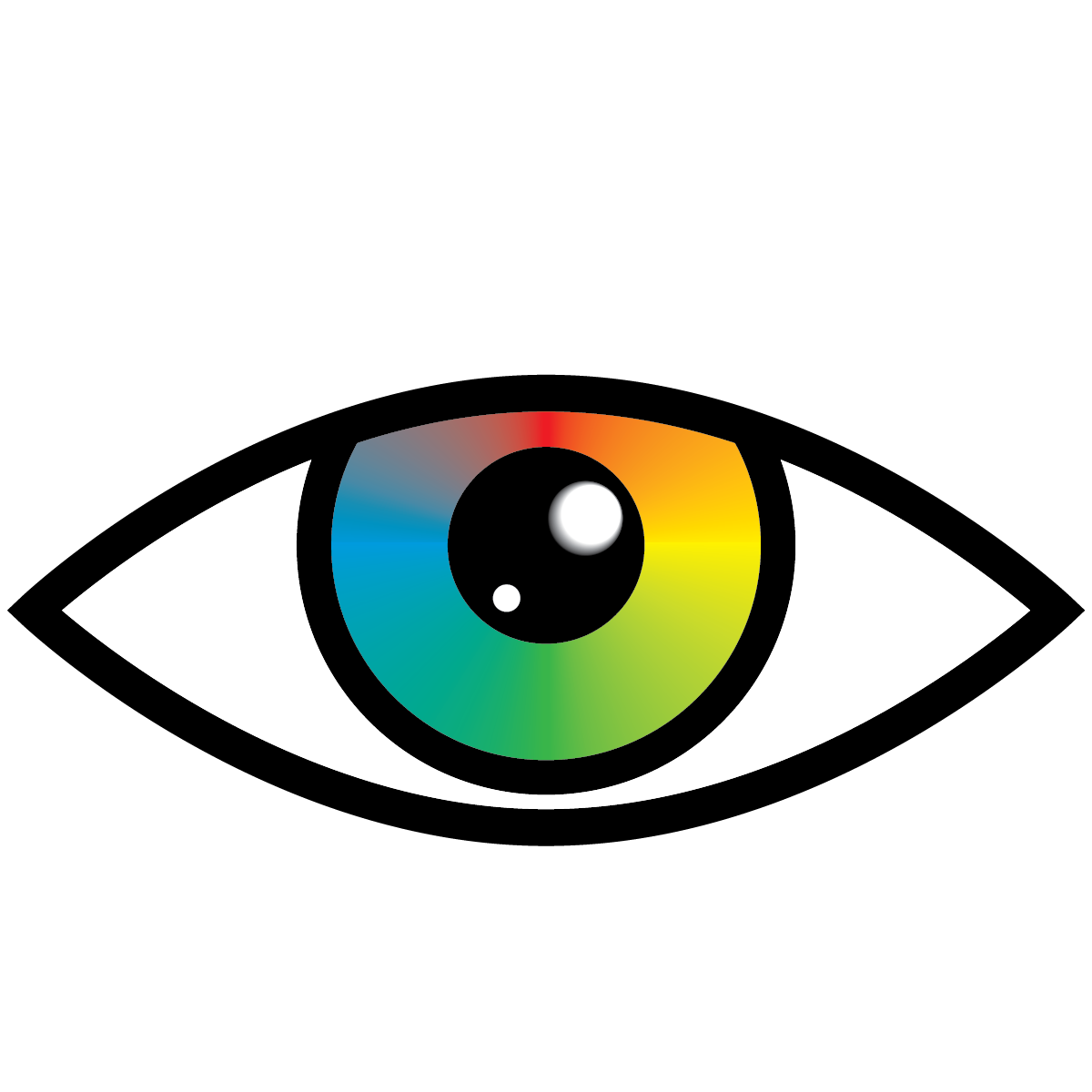 Eye clipart rainbow. Eyeball graphic library