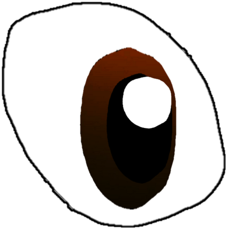 Eye clip wide. Open brown anime by