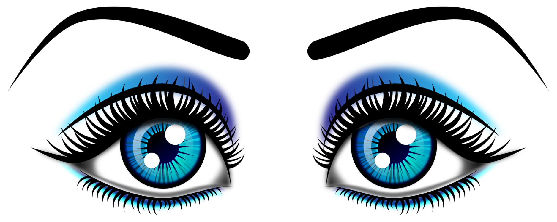 Lady vector eyes. Eyebrow woman eye color
