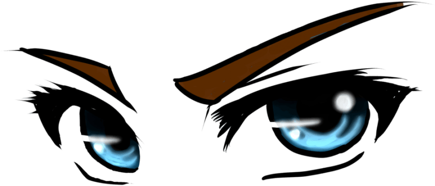 Eye clipart anime. Transparent png image with
