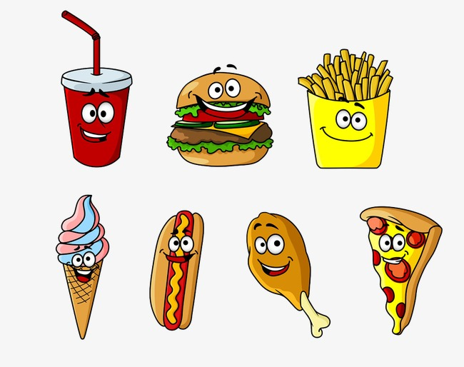 Eye clipart food. Cartoon image with the