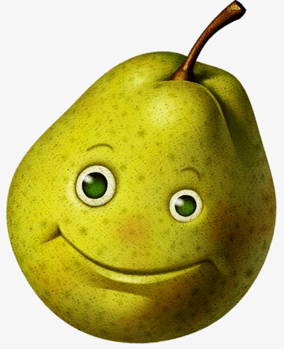 Eye clipart food. A pear smile png