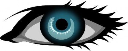 Eye clipart line art. Blue green clipartfox secretlondon