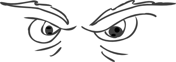 Eye clipart mad. Grey angry eyes clip