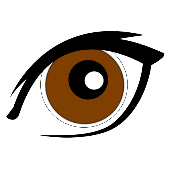 Eye clipart orange. Cartoon new clip art