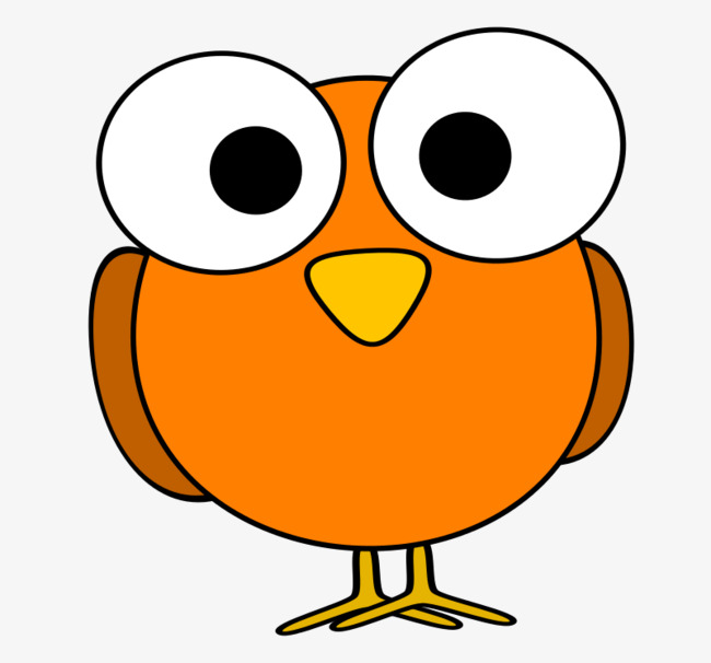 Eye clipart orange. Cartoon eyes birds lovely