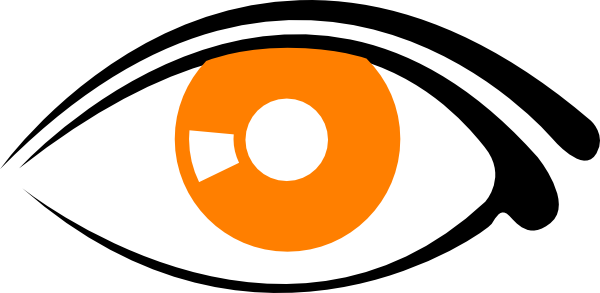 Eye clipart orange. Eyes black and white
