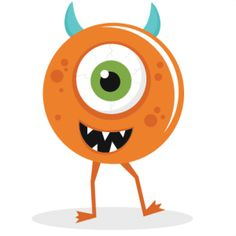 Eye clipart orange. Free cute monster clip