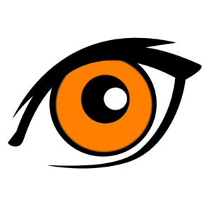 eye clipart orange