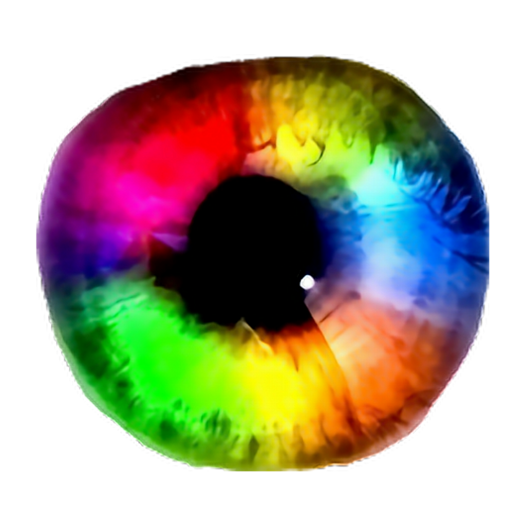 Eye clipart rainbow. Eyes pupil sticker by