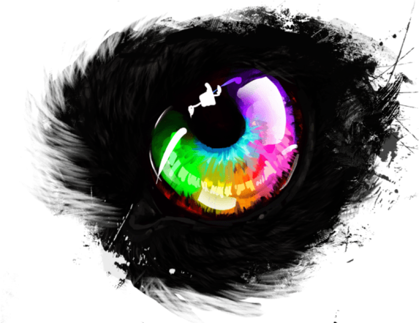 Eye clipart rainbow. Download no background png
