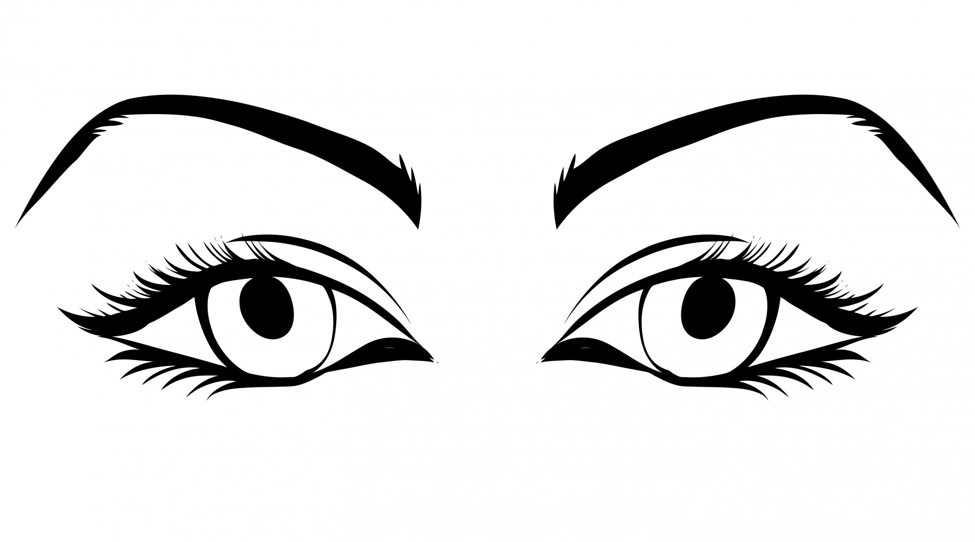 Eye clipart. Eyes of woman free