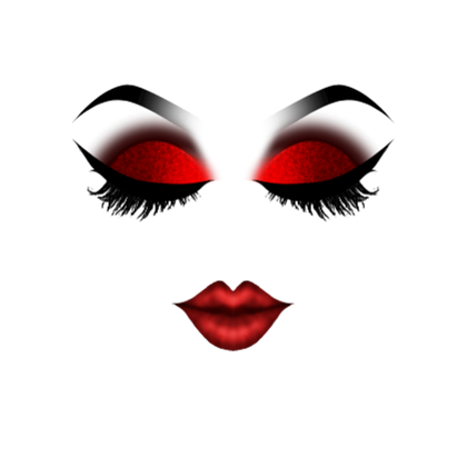 Eye makeup png. Red closed roblox