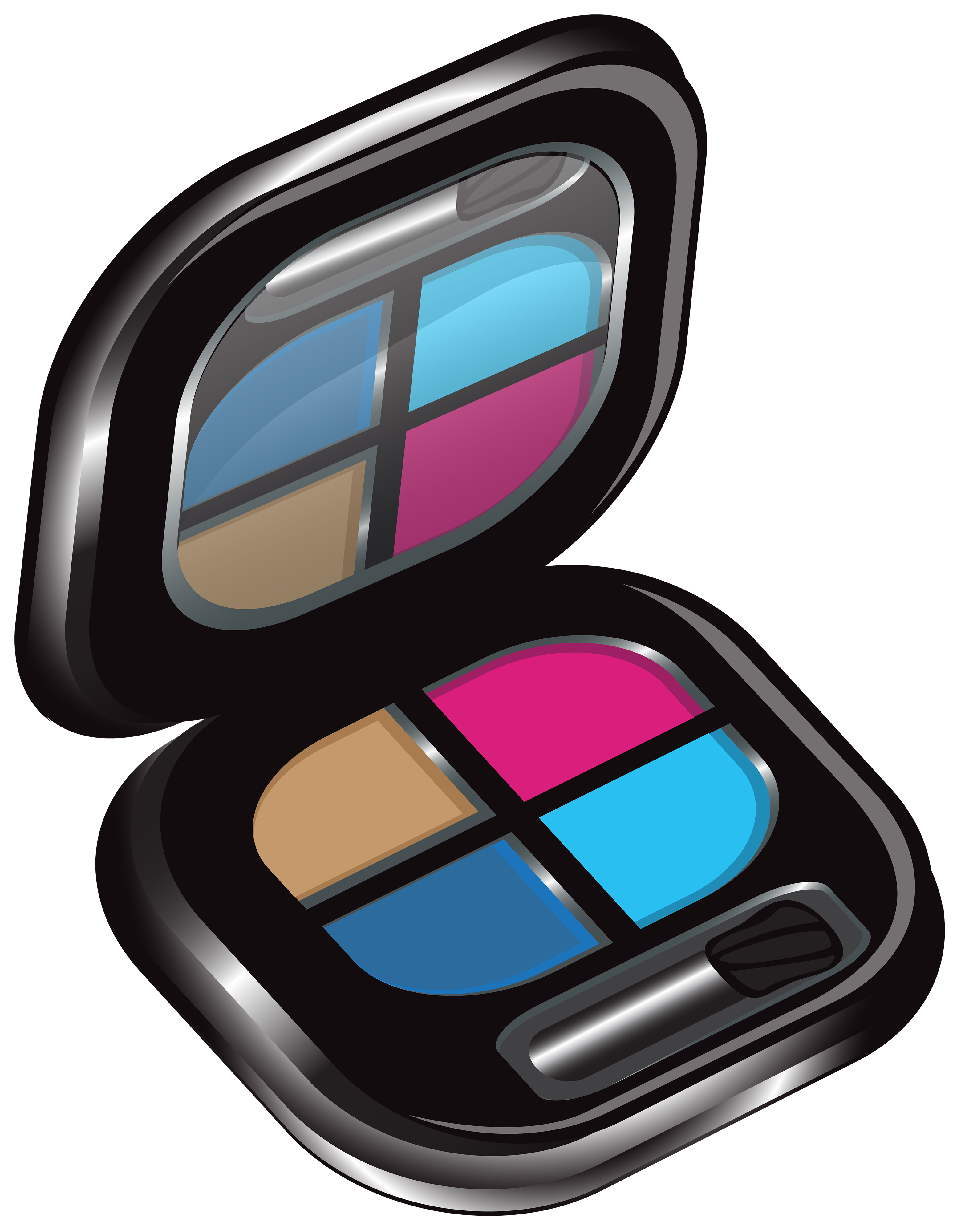 Makeup clipart makeup pallet. Eyeshadows png image gallery