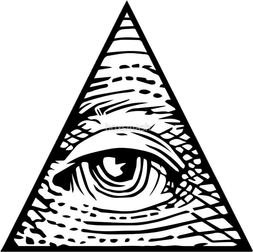 Eyepatch transparent triangle eye. Download hd all seeing
