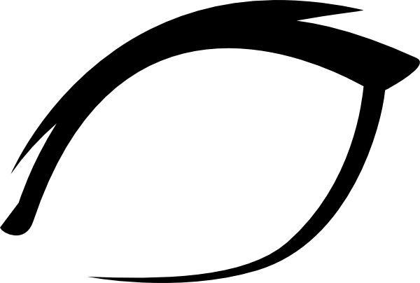 Eye outline png. Green clip art at