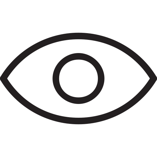 Eye outline png. Icon ico svg more