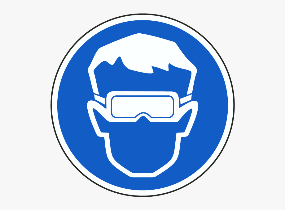 Eye protection. Goggles clipart safety must