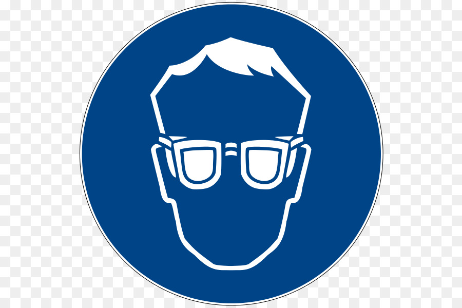 Eye protection. Safety icon clipart glasses